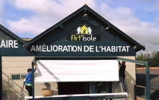 Installation salon habitat devanture